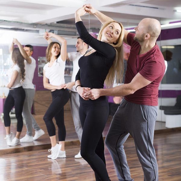 people having dancing class