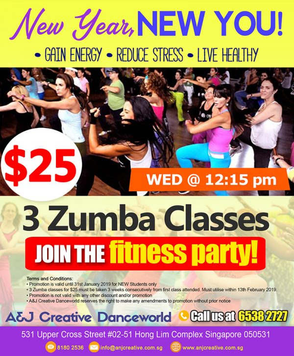 Res 2019 Zumba promo 25 for 3